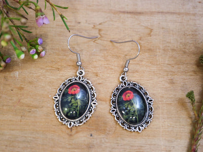 Delany fine-leaved peony earrings