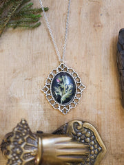 Delany thistle necklace