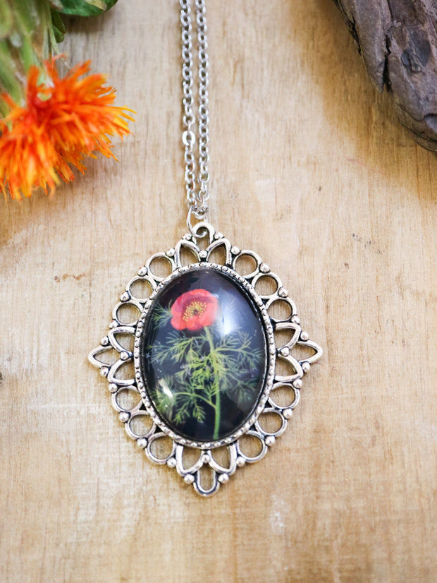 Delany fine-leaved peony necklace