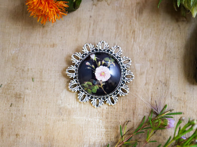 Delany rose brooch