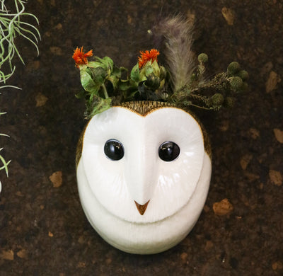 Small barn owl wallvase