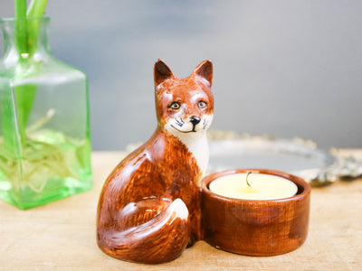 Fox tea light holder