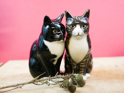 Millie & Julius cat salt and pepper shakers