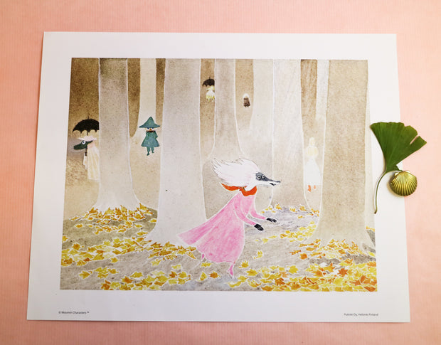 Moomin print the Moominvalley in November