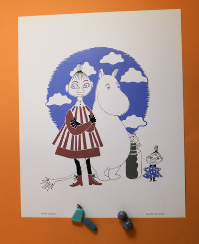 Moomin print the story of Moomin, Mymble and Little My