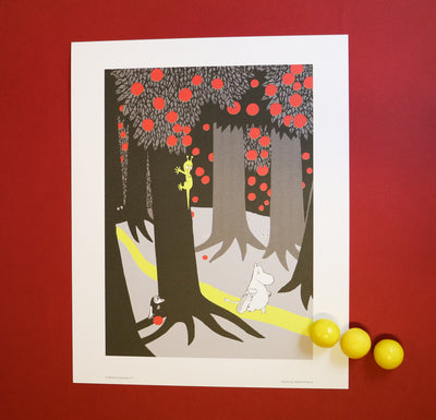 Moomin print forest walk