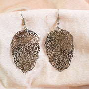 Leaf vein earrings