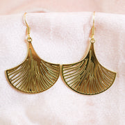 Deco leaf earrings