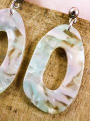Organic oval seaweed earrings