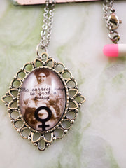 Pussy grab feminist necklace