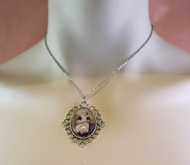 Anatomical heart feminist necklace