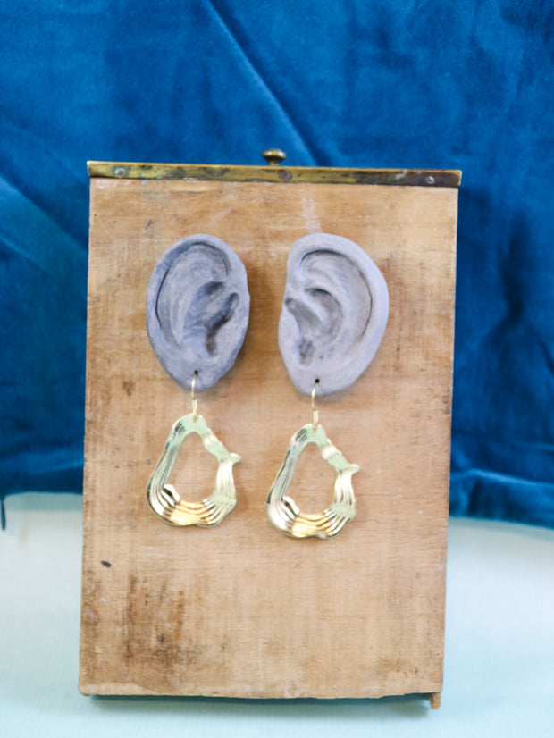 Highly irregular earrings