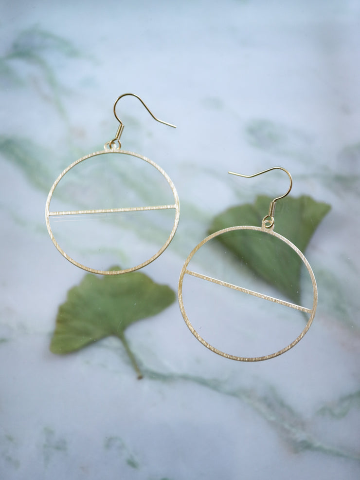 Minimalist deco earrings