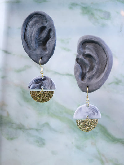 Marble croco earrings