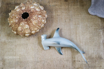 Miniature hammerhead shark figurine