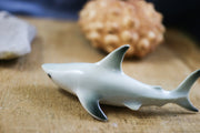 Miniature white shark figurine