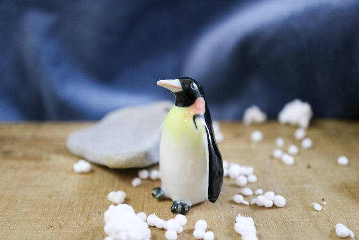 Miniature gentleman king penguin figurine