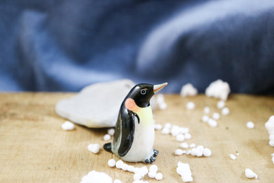 Miniature lady king penguin figurine