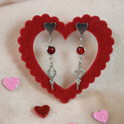 Mini ornament red glass earrings (Limited edition)
