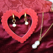 Pearl necklace and earrings set (Limited edition)
