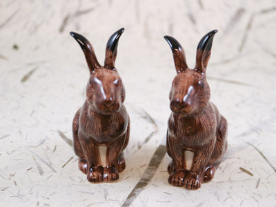 Hares salt and peppar shakers