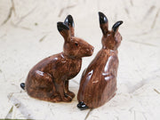 Hares salt and pepper shakers