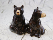 Black bear salt & pepper shakers