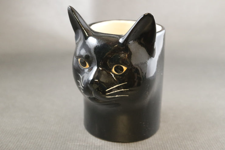Black cat pot