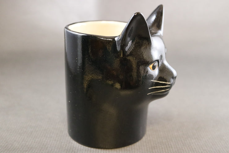 Lucky the black cat pot