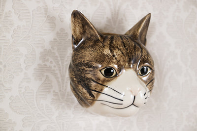 Spotted cat small wallvase