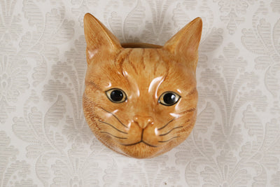 Orange cat small wallvase