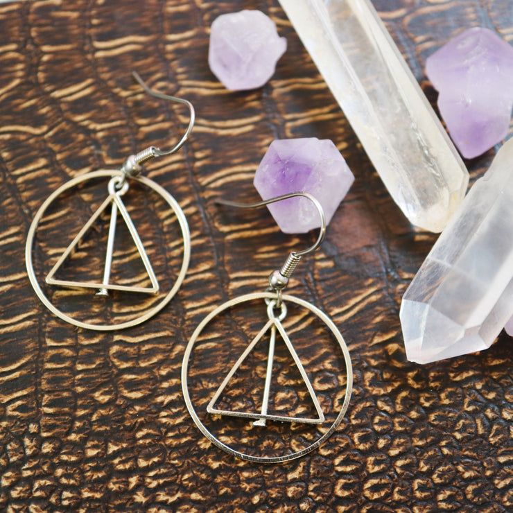 Magical geometry earrings