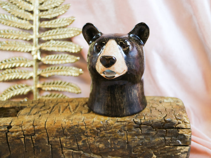Small black bear jug