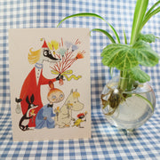 Moomin Birch twig easter postcard