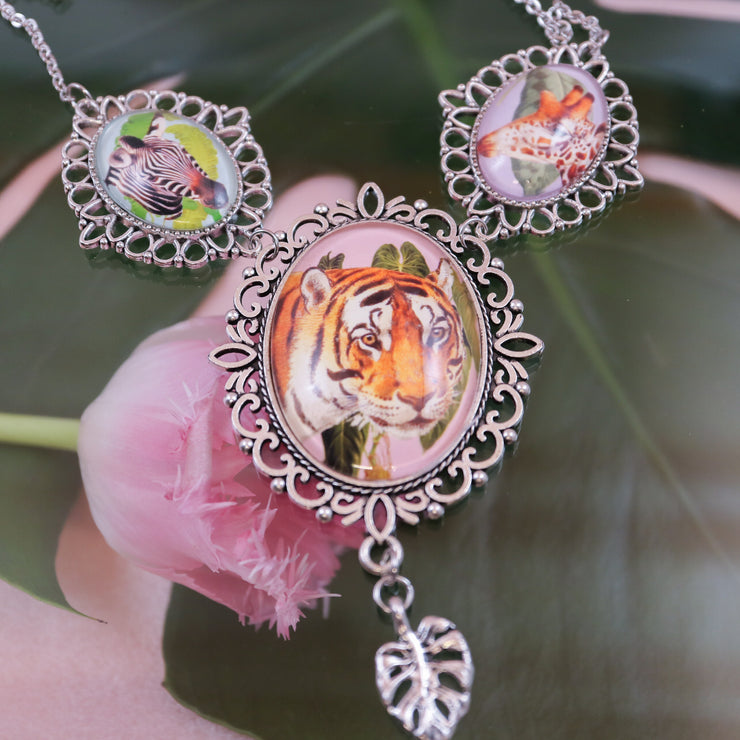Wild tiger statement necklace
