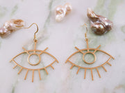 Eye see you golden earrings