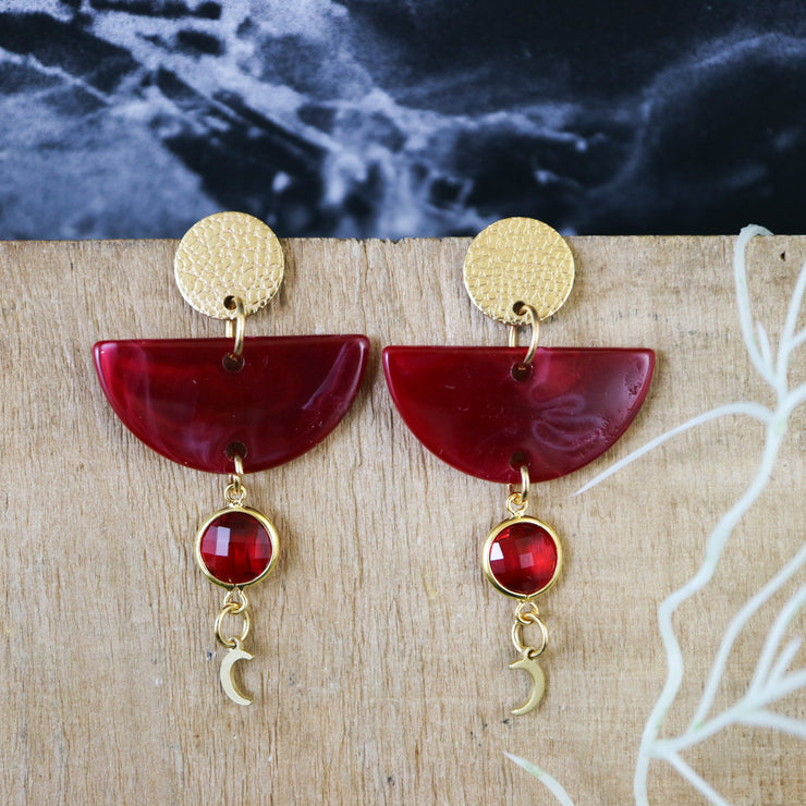 Blood moon art deco earrings (Limited edition)