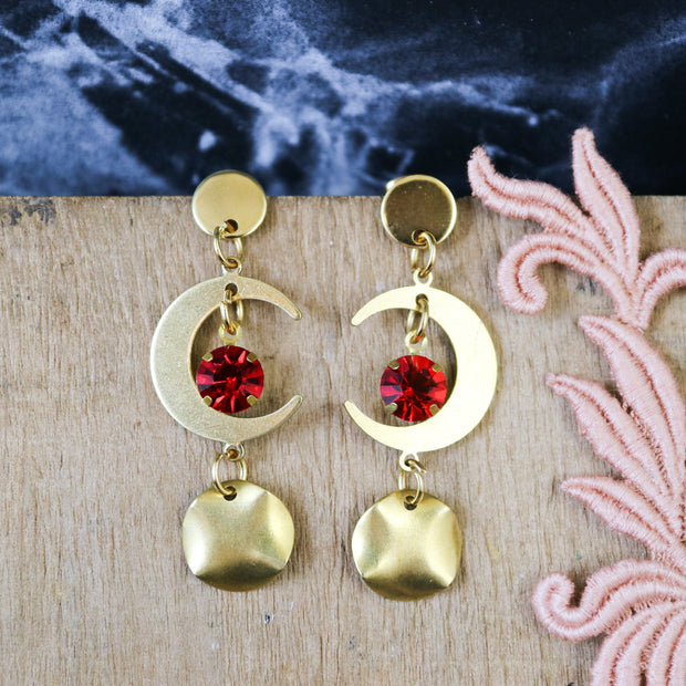 Blood moon sparkly earrings (Limited edition)