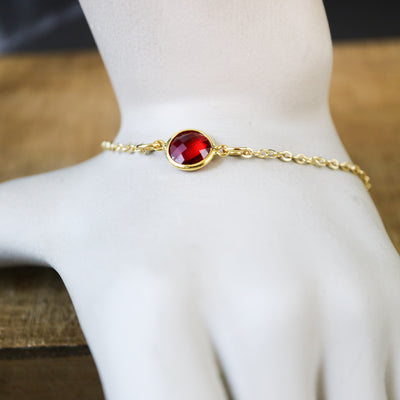 Blood red stone bracelet