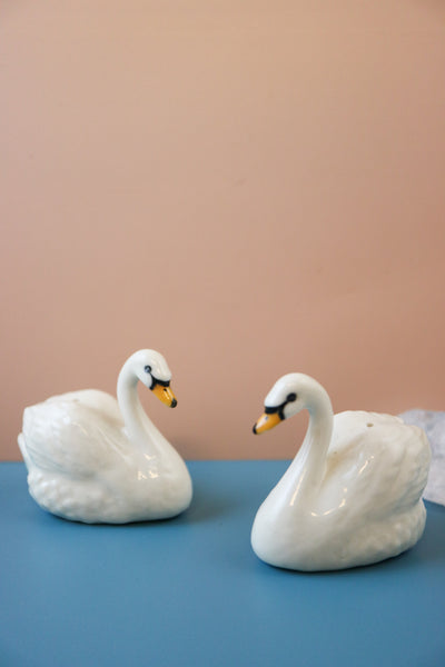 Miniature swan incense holder figurine