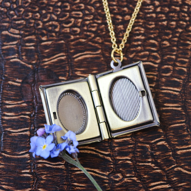 Keeper of secrets locket necklace