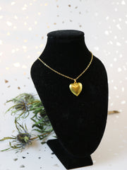 Heart of gold necklace