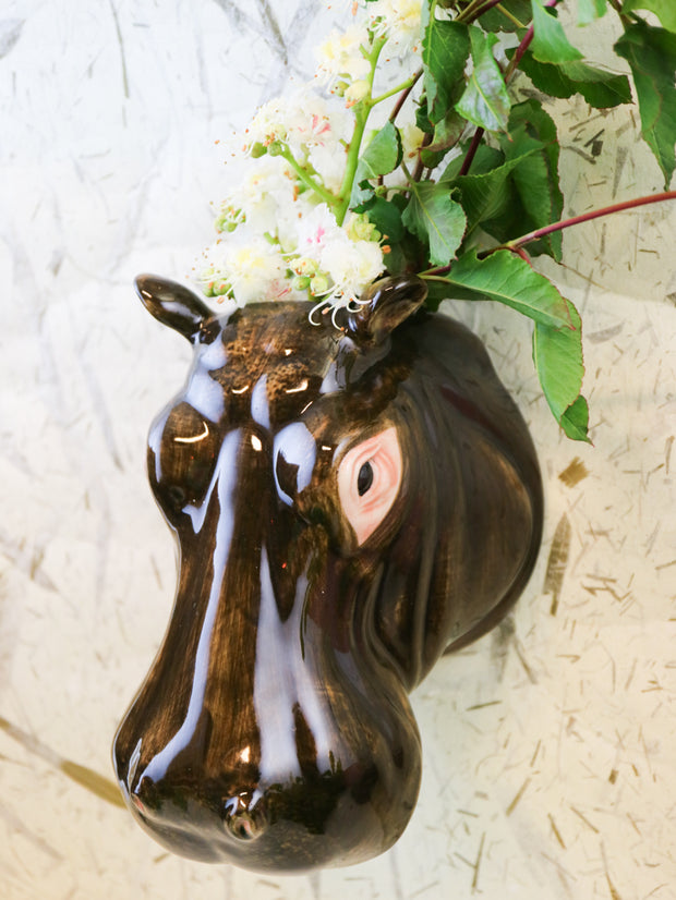 Big hippo wallvase