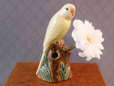 Budvase budgerigar yellow
