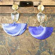 Blue fan earrings (Limited edition)