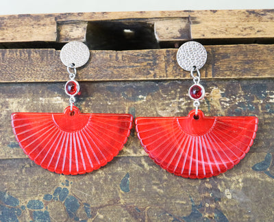 Ruby fan earrings (Limited edition)