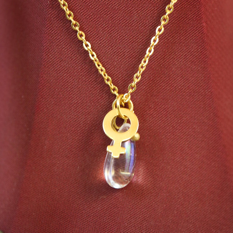 Male tears gold necklace