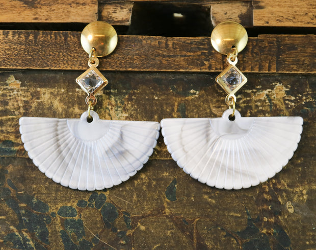 Marble fan earrings (Limited edition)