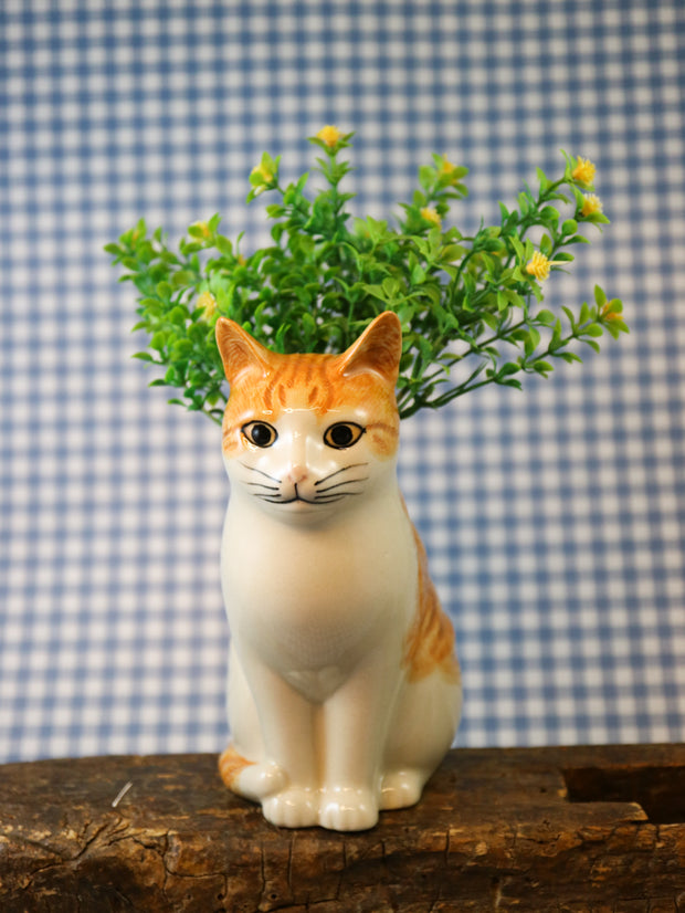 Squash the cat flower vase
