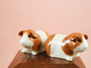 Ginger and white guinea pig salt and pepper shakers